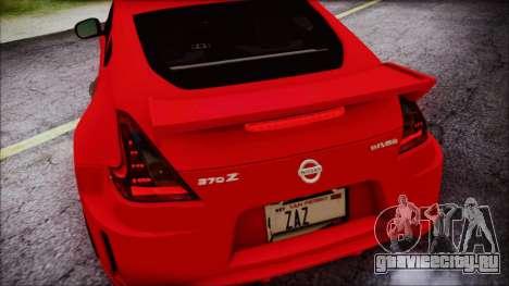 Nissan 370Z Nismo 2010 Angel Beats Itasha для GTA San Andreas вид снизу