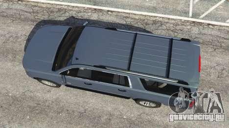 Chevrolet Suburban 2015 [unlocked] для GTA 5 вид сзади