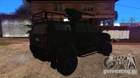 Komatsu LAV 4x4 with Vulcan Gatling Gun для GTA San Andreas вид слева