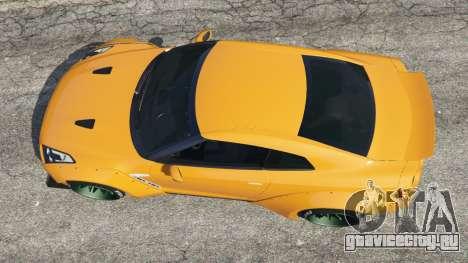 Nissan GT-R (R35) [LibertyWalk] для GTA 5 вид сзади
