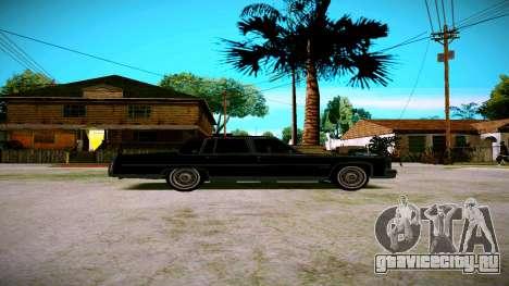 Cadillac Fleetwood Brouhman 1985 для GTA San Andreas вид сзади слева