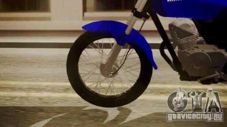Honda CB1 для GTA San Andreas вид сзади слева