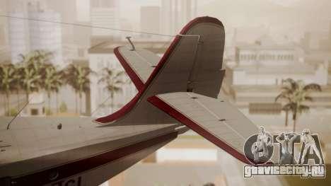 Grumman G-21 Goose N121GL для GTA San Andreas вид сзади слева