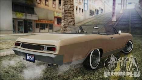 GTA 5 Albany Buccaneer Bobble Version IVF для GTA San Andreas вид слева
