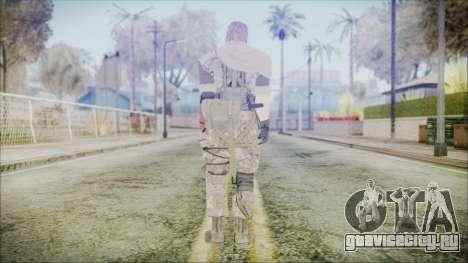 MGSV Phantom Pain Snake Scarf Woodland для GTA San Andreas третий скриншот