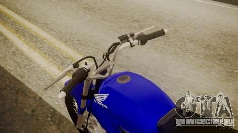 Honda CB1 для GTA San Andreas вид сзади