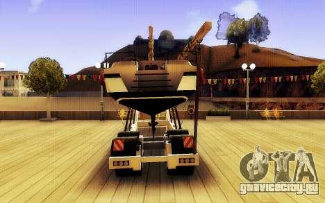 GTA V Big Boat Trailer для GTA San Andreas вид сзади слева