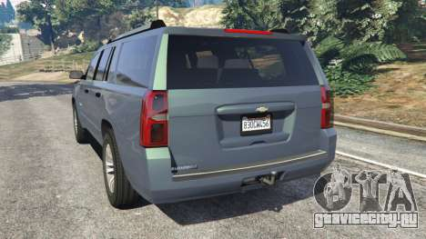 Chevrolet Suburban 2015 [unlocked] для GTA 5 вид сзади слева