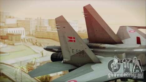 Sukhoi SU-27 Royal Danish Air Force для GTA San Andreas вид сзади слева