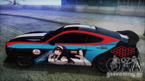 Ford Mustang Shelby GT350R 2016 Kasumigaoka для GTA San Andreas вид справа