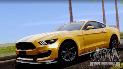 Ford Mustang Shelby GT350R 2016 для GTA San Andreas вид сзади