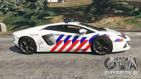 Lamborghini Aventador LP700-4 Dutch Police v5.5 для GTA 5 вид слева