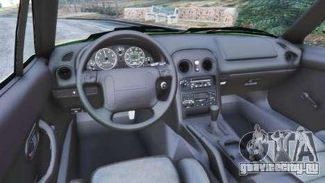 Mazda Miata MX-5 для GTA 5 вид сзади справа