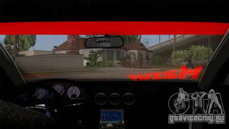 Nissan S15 Drift для GTA San Andreas вид изнутри