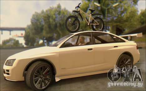 Obey Tailgater Special Tuning для GTA San Andreas вид изнутри