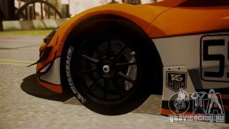 McLaren 650S GT3 2015 для GTA San Andreas вид сзади слева