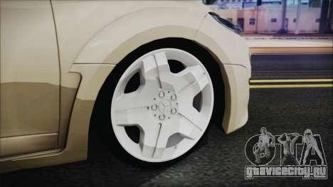 Renault Megane RS для GTA San Andreas вид сзади слева