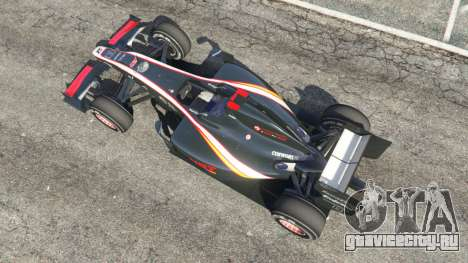 Hispania F110 (HRT F110) v1.1 для GTA 5 вид сзади