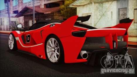 Ferrari FXX K 2016 v1.1 [HQ] для GTA San Andreas вид слева