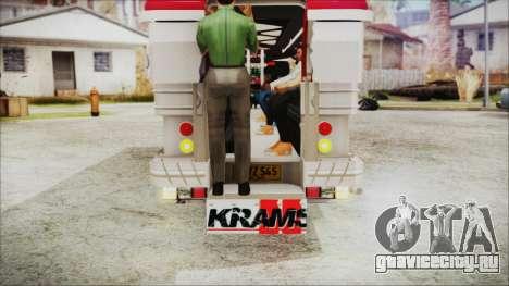 Hataw Motor Works Jeepney для GTA San Andreas вид сзади