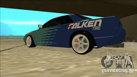 Nissan Skyline R32 Drift Falken для GTA San Andreas вид сзади слева