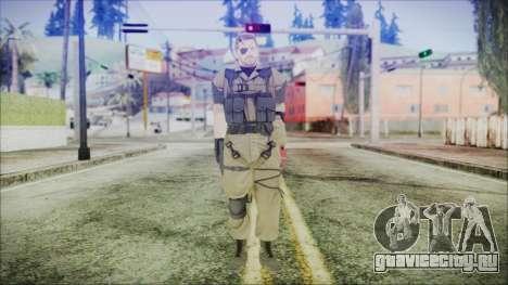 MGSV Phantom Pain Snake Normal Olive Drab для GTA San Andreas второй скриншот