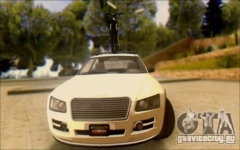 Obey Tailgater Special Tuning для GTA San Andreas вид сзади