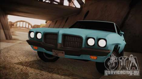 Pontiac Lemans Hardtop Coupe 1971 для GTA San Andreas вид сзади слева