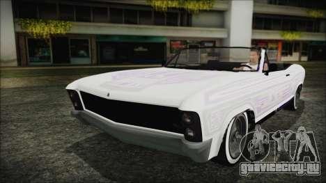 GTA 5 Albany Buccaneer Bobble Version IVF для GTA San Andreas вид сзади