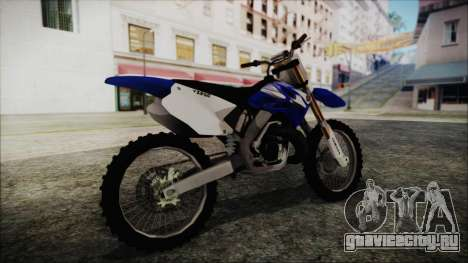 Yamaha YZ250 для GTA San Andreas вид сзади слева