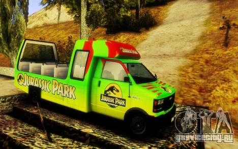 Jurassic Park Tour Bus для GTA San Andreas вид сзади слева