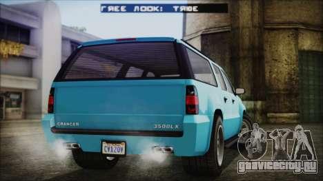 GTA 5 Declasse Granger Civilian для GTA San Andreas вид слева