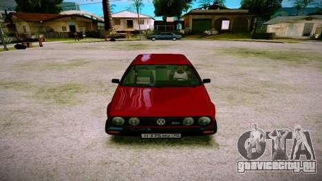 Volkswagen Golf Mk2 для GTA San Andreas вид сзади