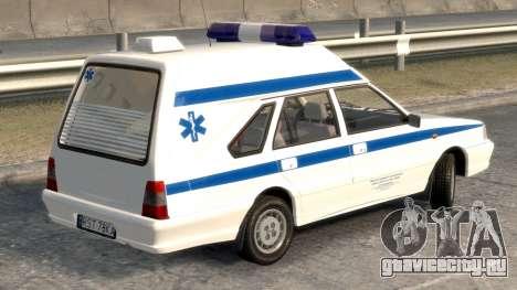 Daewoo FSO Polonez 1999 - Скорая помощь для GTA 4 вид сзади слева