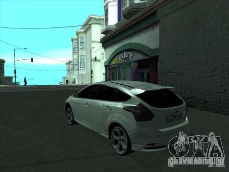 Ford Focus ST Усатый для GTA San Andreas вид сзади слева