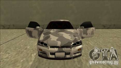 Nissan Skyline R34 Army Drift для GTA San Andreas вид сверху