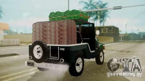 Jeep Willys Cafetero для GTA San Andreas вид слева