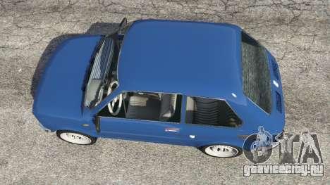 Fiat 126p v1.1 для GTA 5 вид сзади