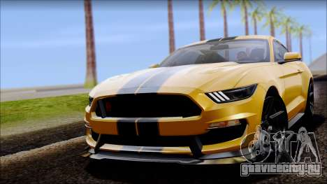 Ford Mustang Shelby GT350R 2016 для GTA San Andreas вид сзади слева