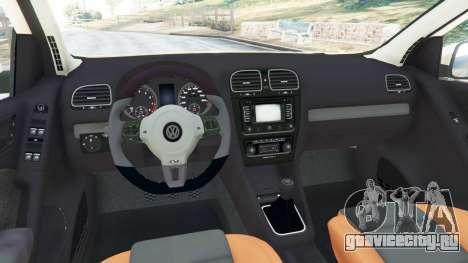 Volkswagen Golf Mk6 v2.0 [Stripes] для GTA 5 вид сзади справа