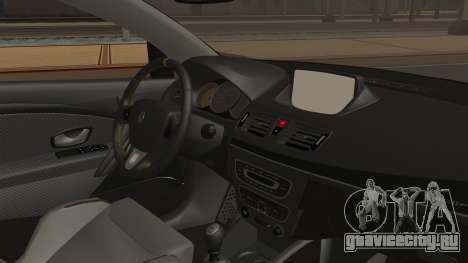 Renault Megane RS для GTA San Andreas вид справа