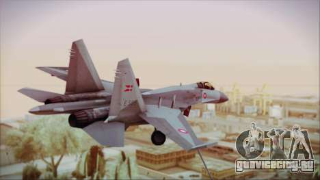 Sukhoi SU-27 Royal Danish Air Force для GTA San Andreas вид слева