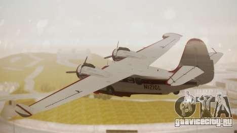 Grumman G-21 Goose N121GL для GTA San Andreas вид слева