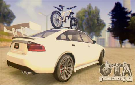 Obey Tailgater Special Tuning для GTA San Andreas вид сзади слева