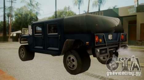 Patriot III для GTA San Andreas вид сзади слева
