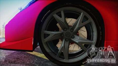 Nissan 370Z Nismo 2010 Angel Beats Itasha для GTA San Andreas вид сзади слева