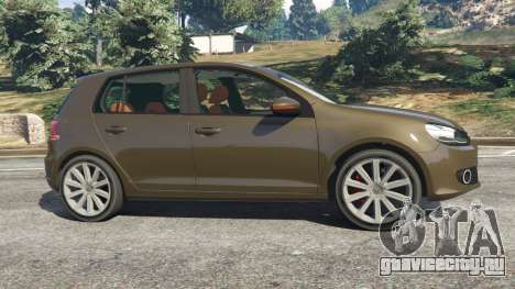 Volkswagen Golf Mk6 для GTA 5 вид слева