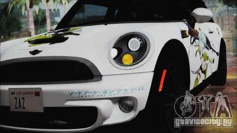 Mini Cooper Clubman 2011 Itasha для GTA San Andreas вид сзади