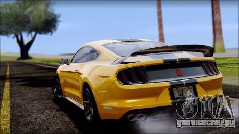 Ford Mustang Shelby GT350R 2016 для GTA San Andreas вид справа