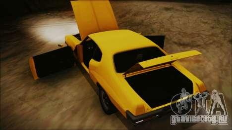 Pontiac Lemans Hardtop Coupe 1971 IVF АПП для GTA San Andreas вид изнутри